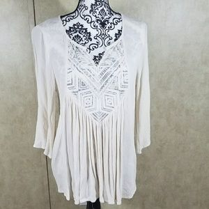 Mossimo White cotton tunic